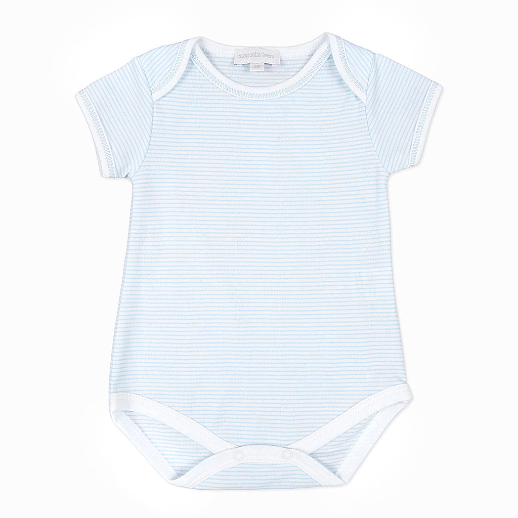 Magnolia Baby Blue Mini Stripe Bodysuit