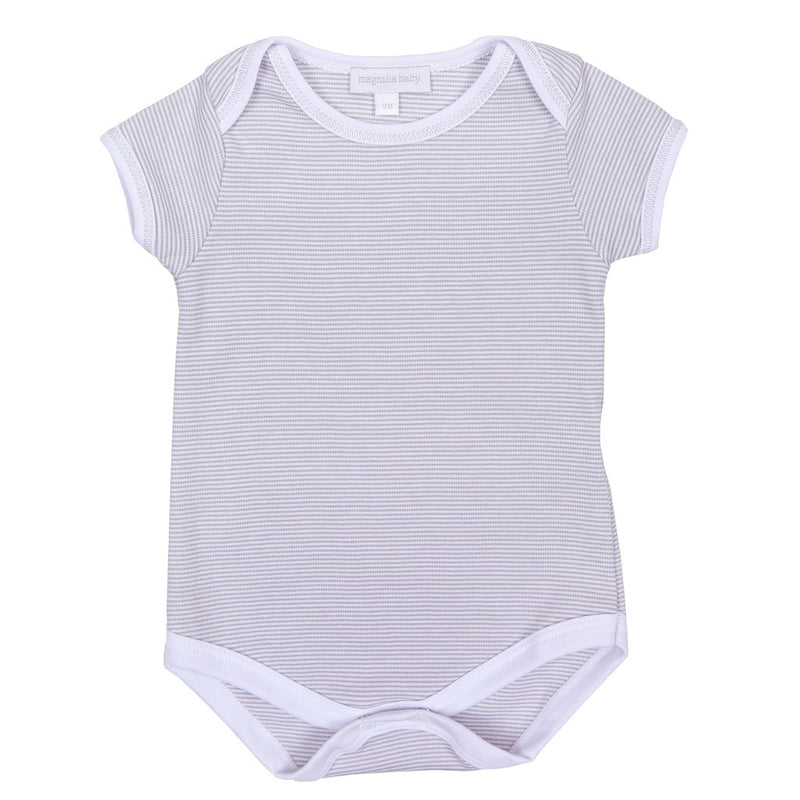 Magnolia Baby Essentials Unisex Mini Stripe Short Sleeve Bodysuit  - Personalization Available