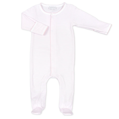 Magnolia Baby Pink Gingham Dot Gathered Gown Layette Set - Personalization Available