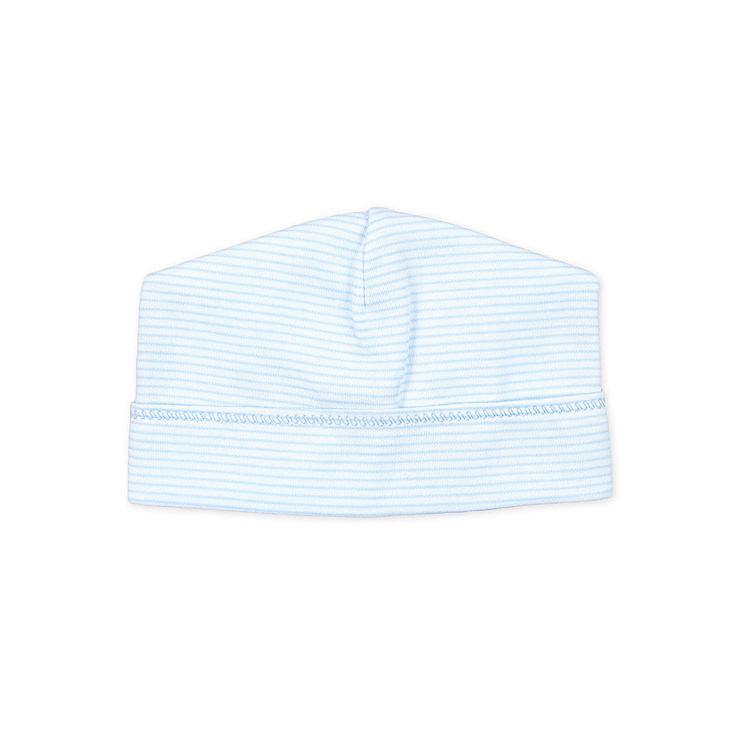Magnolia Baby Blue Mini Stripe Baby Hat