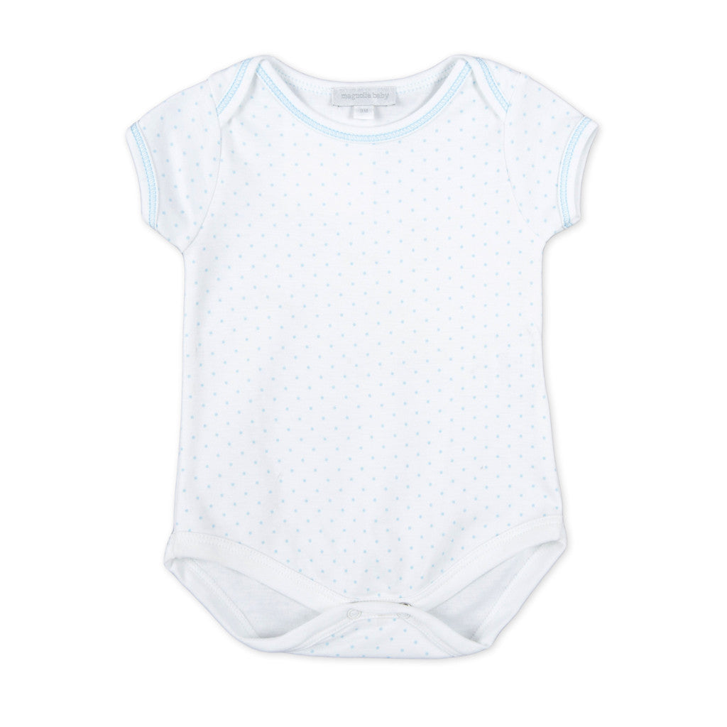 Magnolia Baby Blue MIni Dots Bodysuit