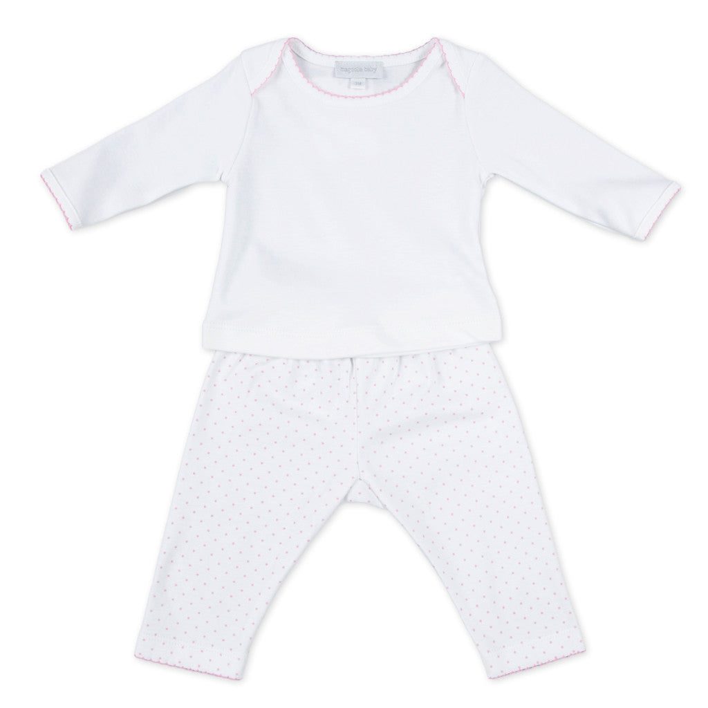 Magnolia Baby Pink MIni Dots Pants Set