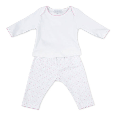 Magnolia Baby Grey Criss Cross Short Playsuit - Personalization Available