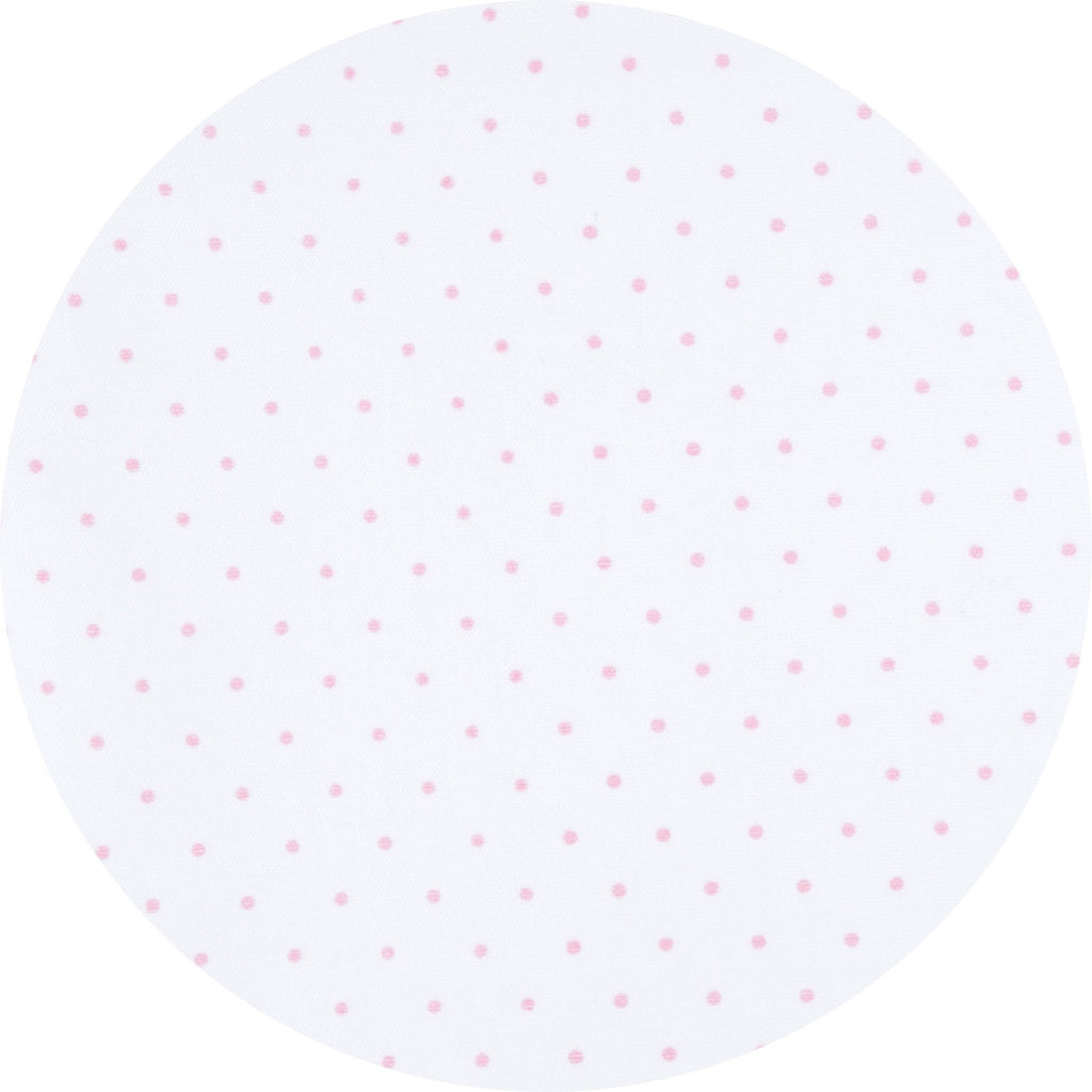 Magnolia Baby Pink Mini Dot Footie + Hat + Blanket - Personalization Available