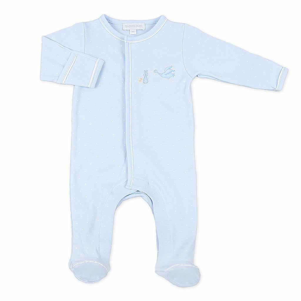 Magnolia Baby Essential Layette Blue Worth the Wait Footie