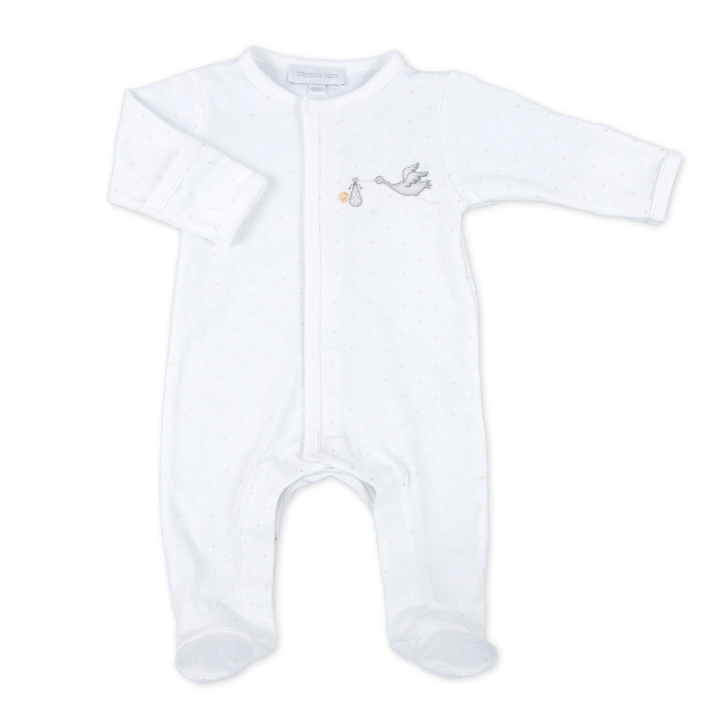 Magnolia Baby Worth the Wait Unisex Embroidered Footie