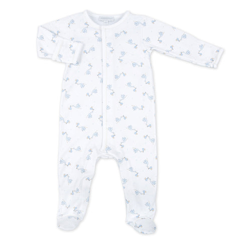 Magnolia Baby Essentials Blue Mini Dots Gathered Gown Personalization Available