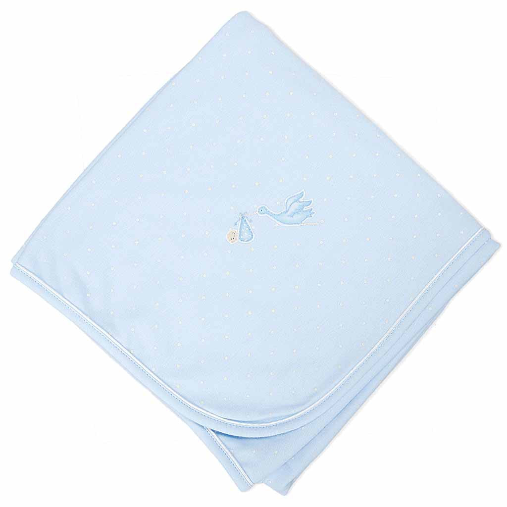 Magnolia Baby Essentials Worth the Wait Blue Receiving Blanket