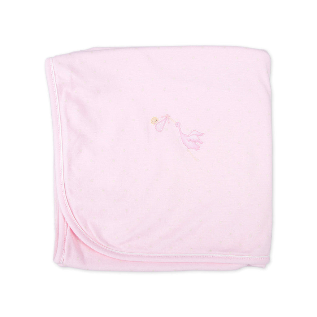 Magnolia Baby Worth the Wait PInk Receiving Blanket