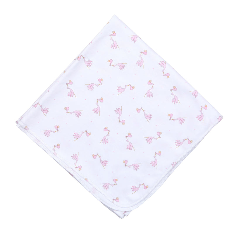Magnolia Baby Essentials Worth the Wait Pink Swaddle Blanket - Personalization Available