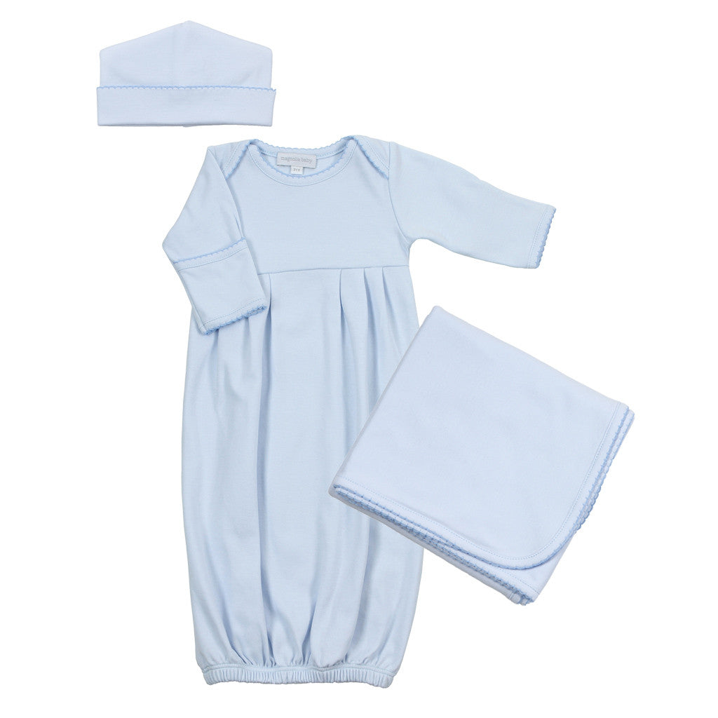 Magnolia Baby Blue Gathered Gown Set