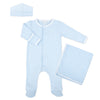 Magnolia Baby Essentials Blue Stripe Sleepsuit Layette Set - Personalization Available