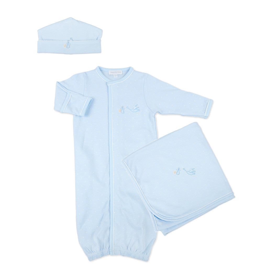Magnolia Baby Blue Embroidered Worth the Wait Gown Set