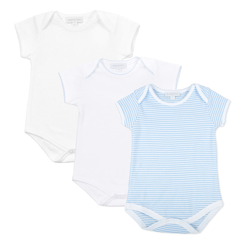 Magnolia Baby Boy Onesie Bodysuit Set - Stripes
