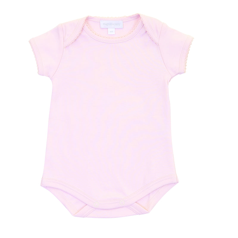 Magnolia Baby Essentials Pink Short Sleeve Bodysuit - Personalization Available