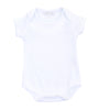 Magnolia Baby Essentials White with Blue Trim Onesie Bodysuit - Personalization Available