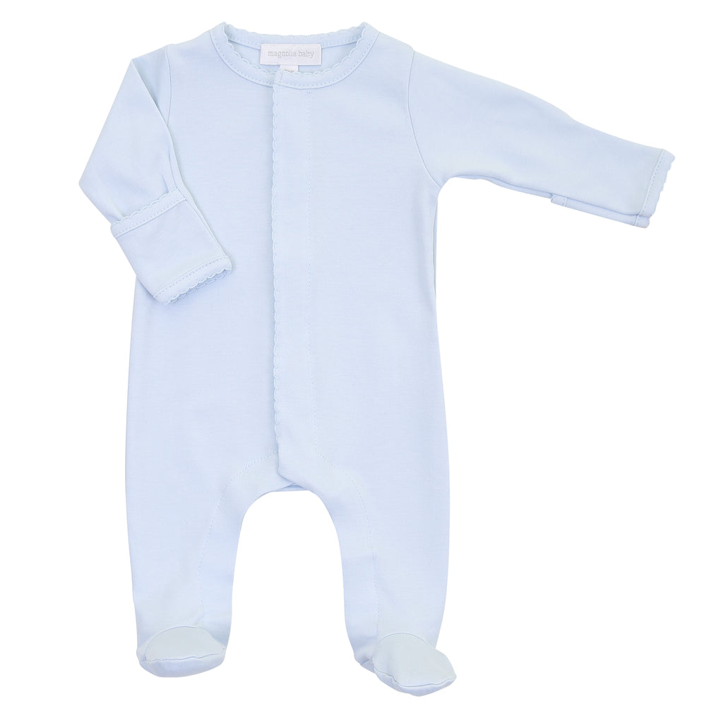 Magnolia Baby Essentials Blue Footie - Personalization Available