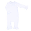 Magnolia Baby Essentials White Ruffled Playsuit - Personalization Available