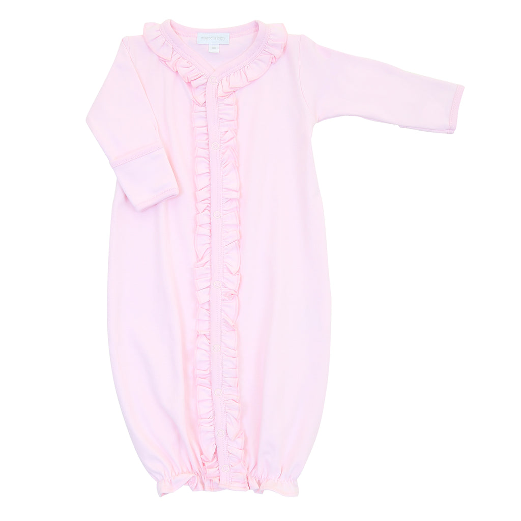 Magnolia Baby Essentials Pink Ruffle Converter Gown - Personalization Available