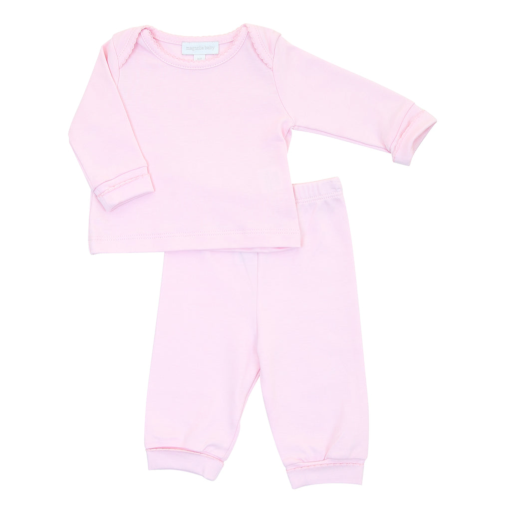 Magnolia Baby Essentials Pink 2 Piece Loungewear Set - Personalization Available