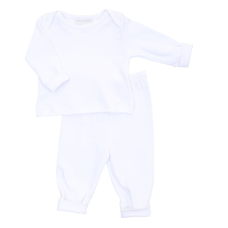 Magnolia Baby Essentials White Loungewear Set - Personalization Available