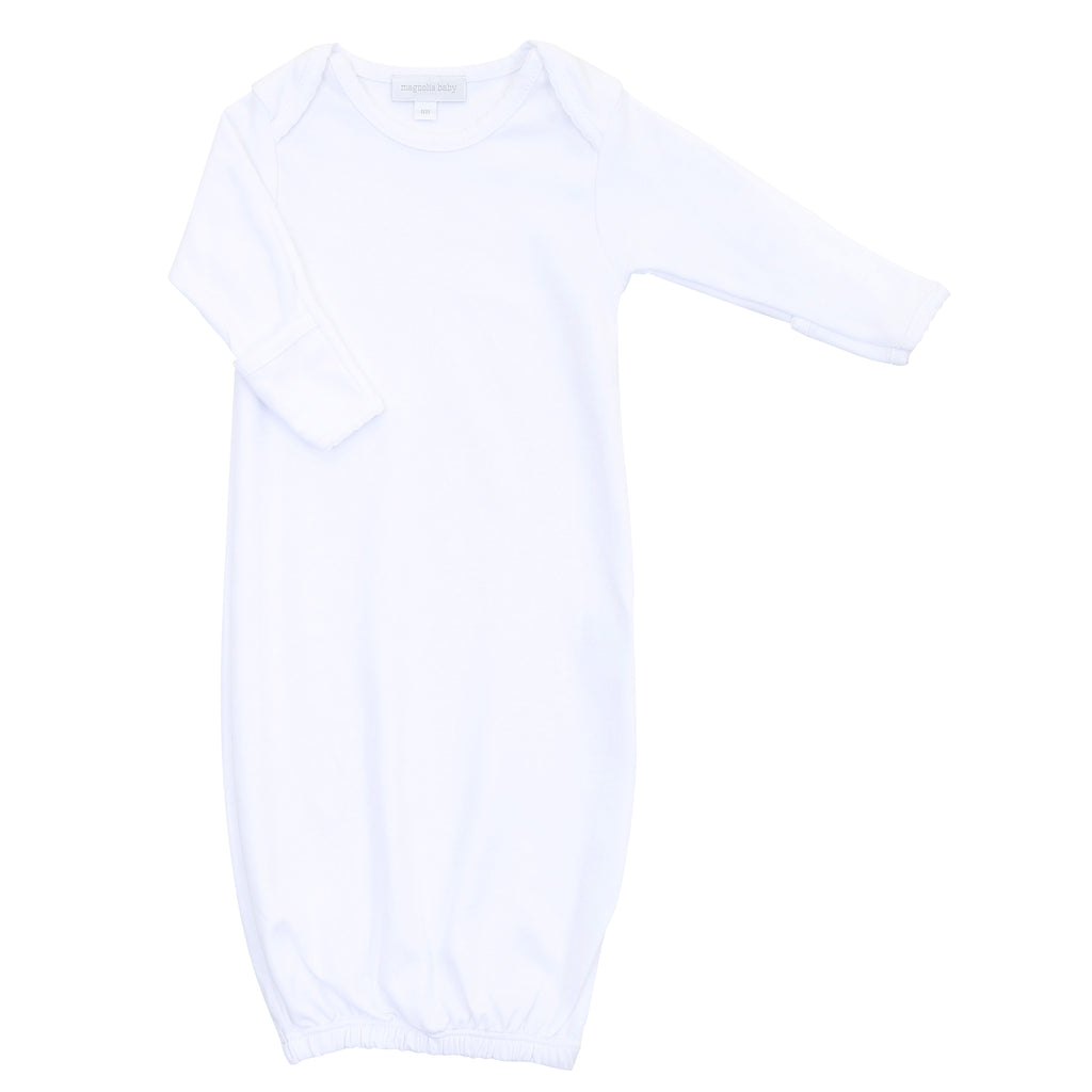 Magnolia Baby Essentials White Lap Shoulder Gown - Personalization Available