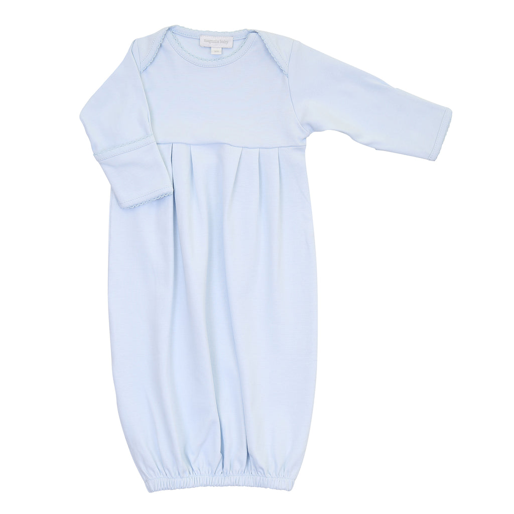Magnolia Baby Essentials Blue Pleated  Gown - Personalization Available