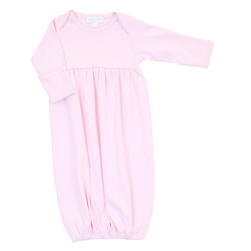 Magnolia Baby Essentials Pink Gathered Gown - Personalization Available