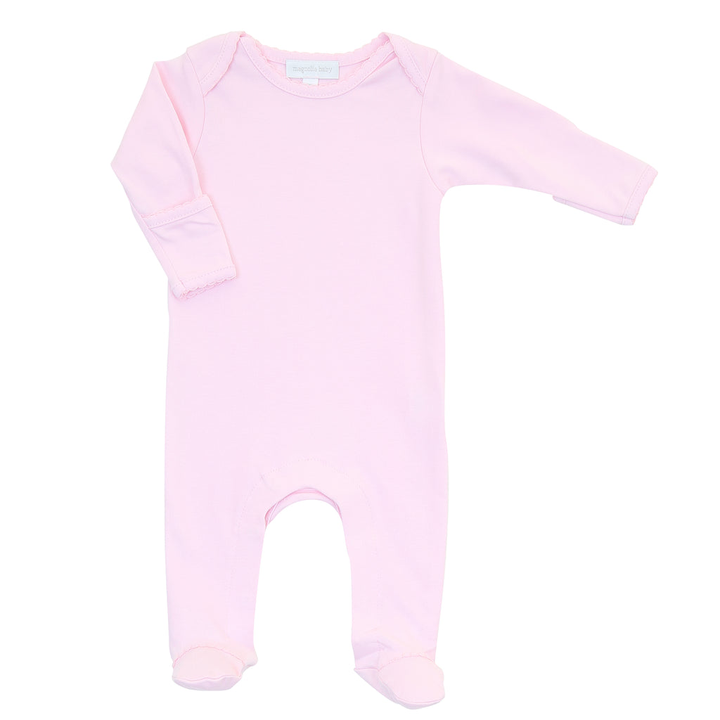 Magnolia Baby Essentials Pink Lap Shoulder Footie - FREE Personalization Available
