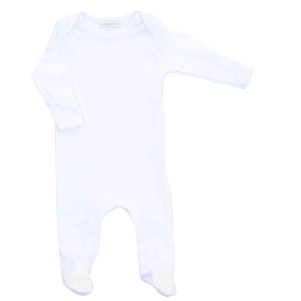 Magnolia Baby Essentials White Lap Shoulder Footie - Personalization Available