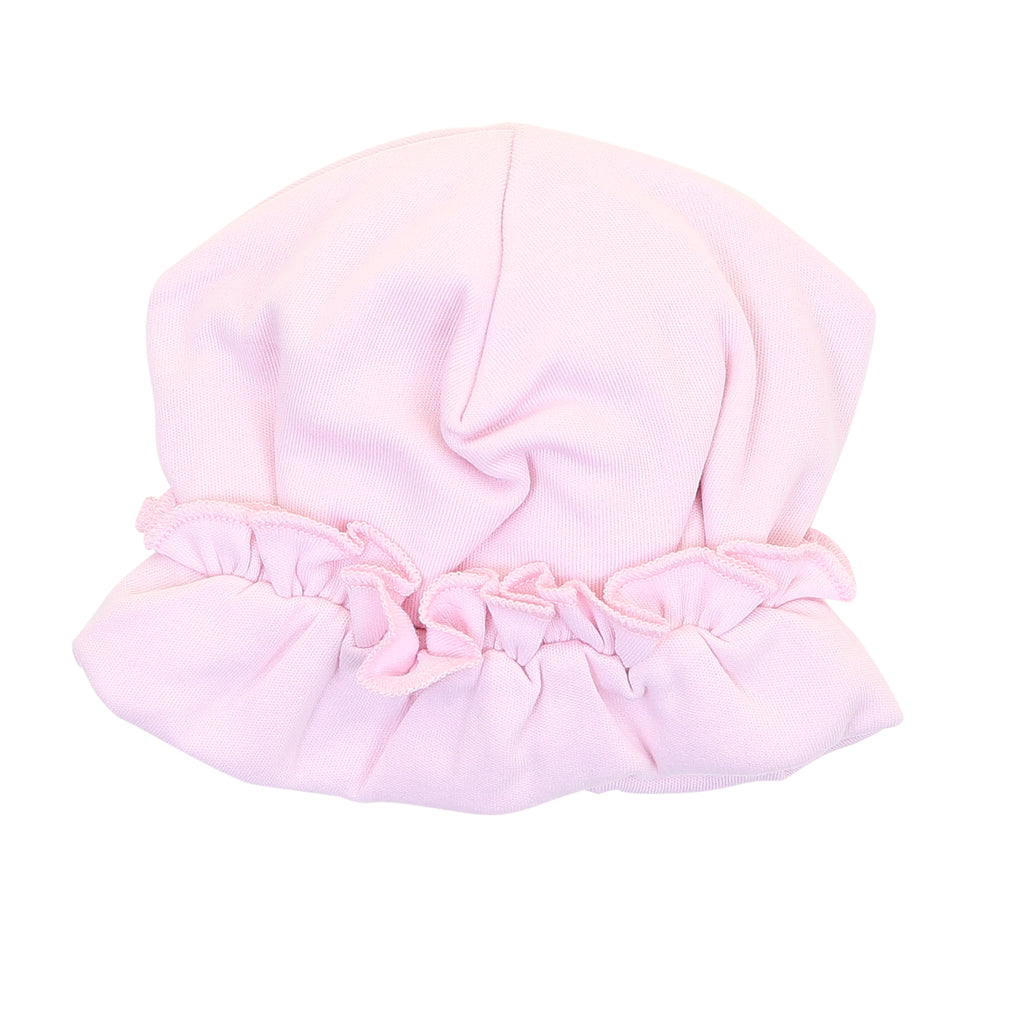 Magnolia Baby Essentials Pink Ruffle Hat - Personalization Available