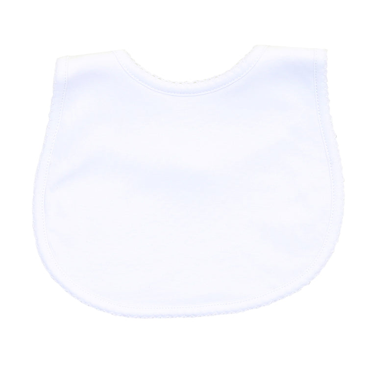 Magnolia Baby Essentials White Bib - Personalization Available