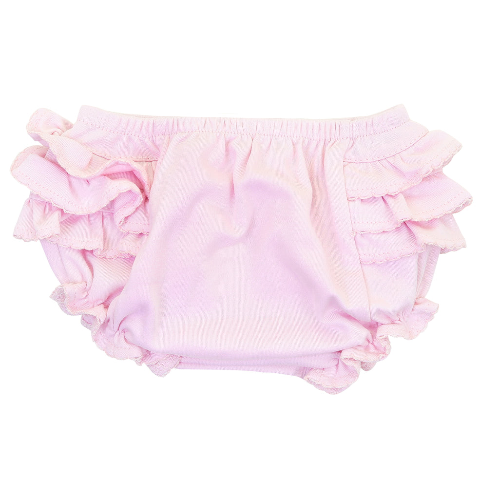 Magnolia Baby Essentials Pink Ruffled Diaper Cover