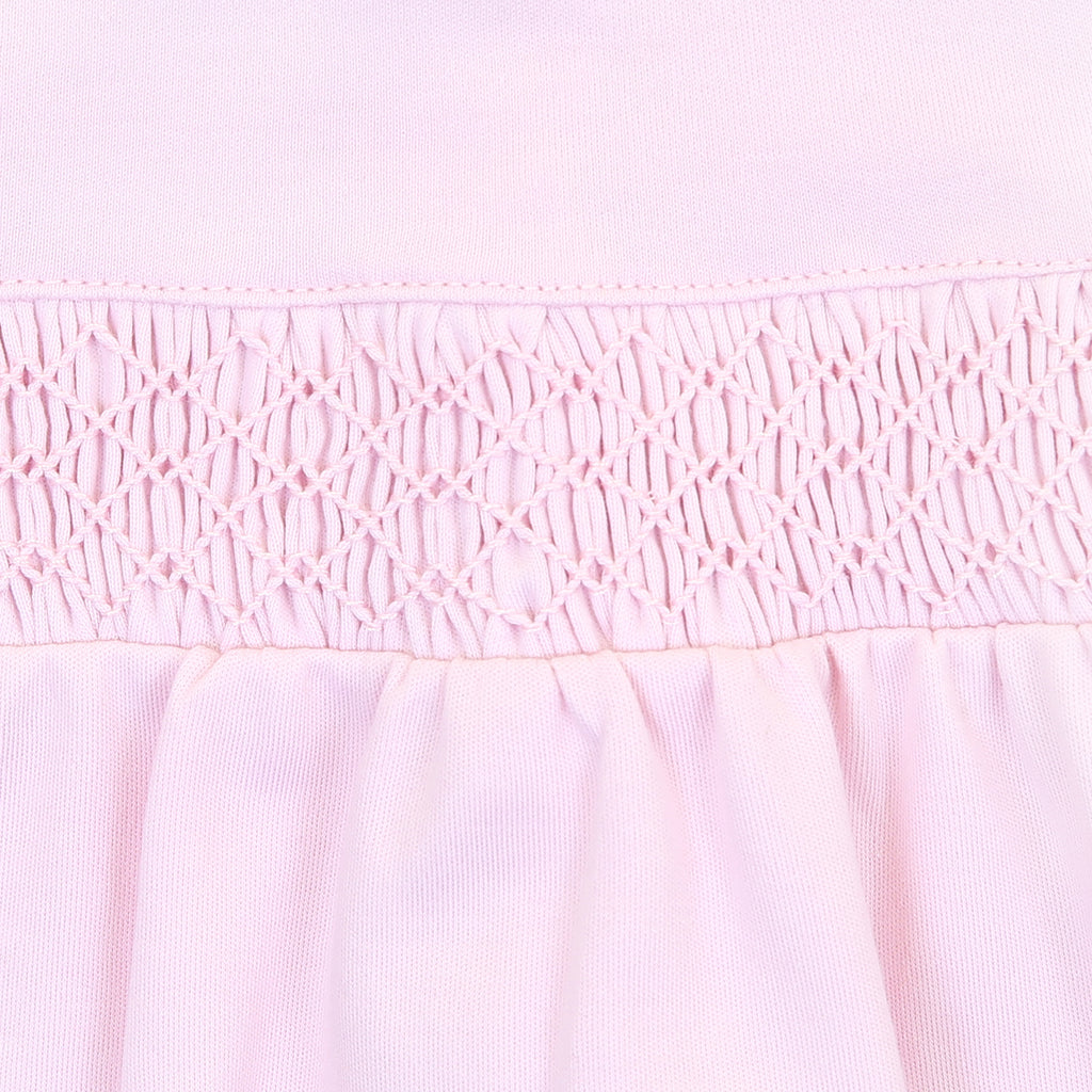 Magnolia Baby Essentials Pink Smocked Gown - Monogram Available