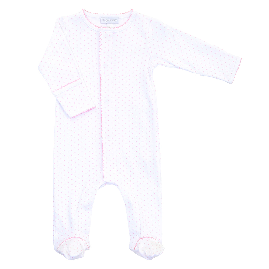 Magnolia Baby Essentials Pink Mini Dots  Footie - Personalization Available