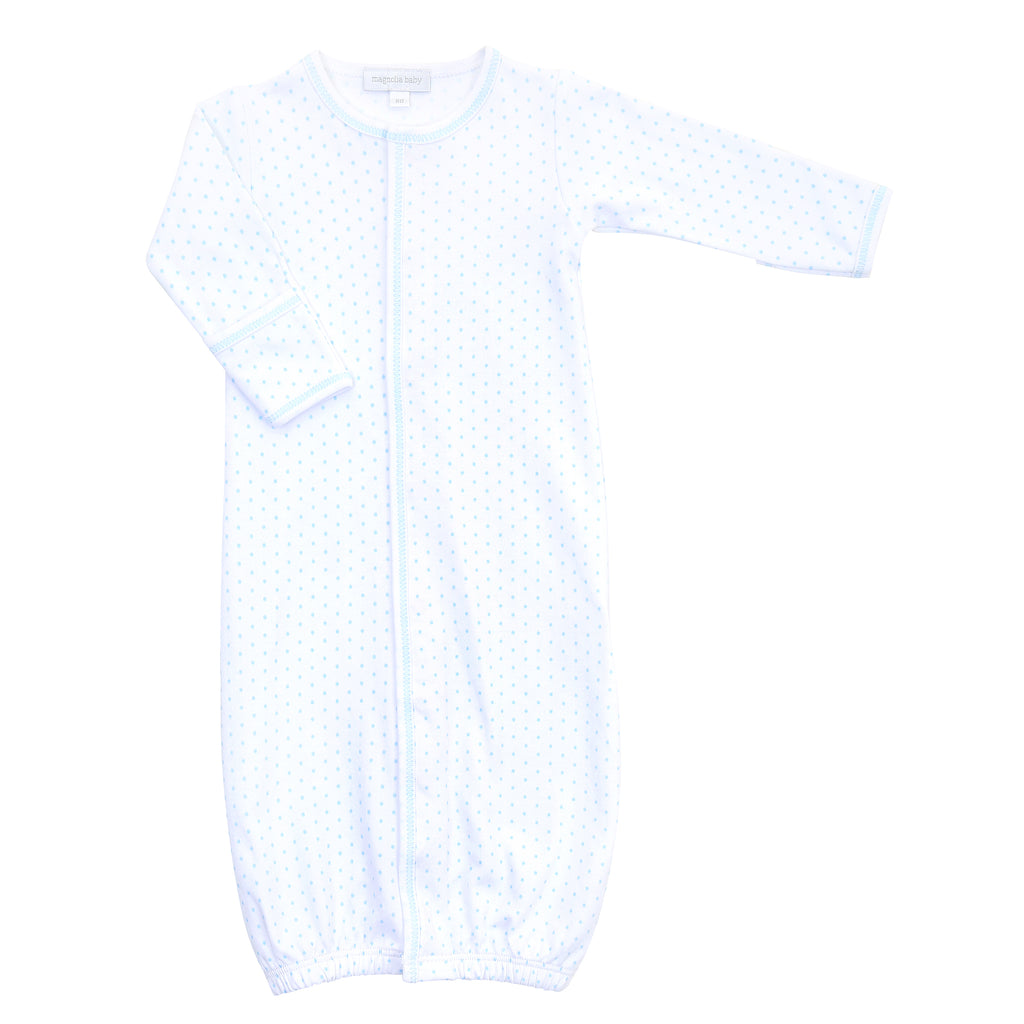 Magnolia Baby Essentials Blue Mini Dots Converter Gown - Personalization Available