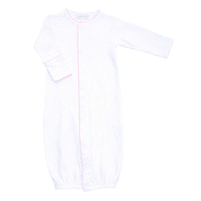 Magnolia Baby Essentials Pink Mini Dots Converter Gown - Personalization Available