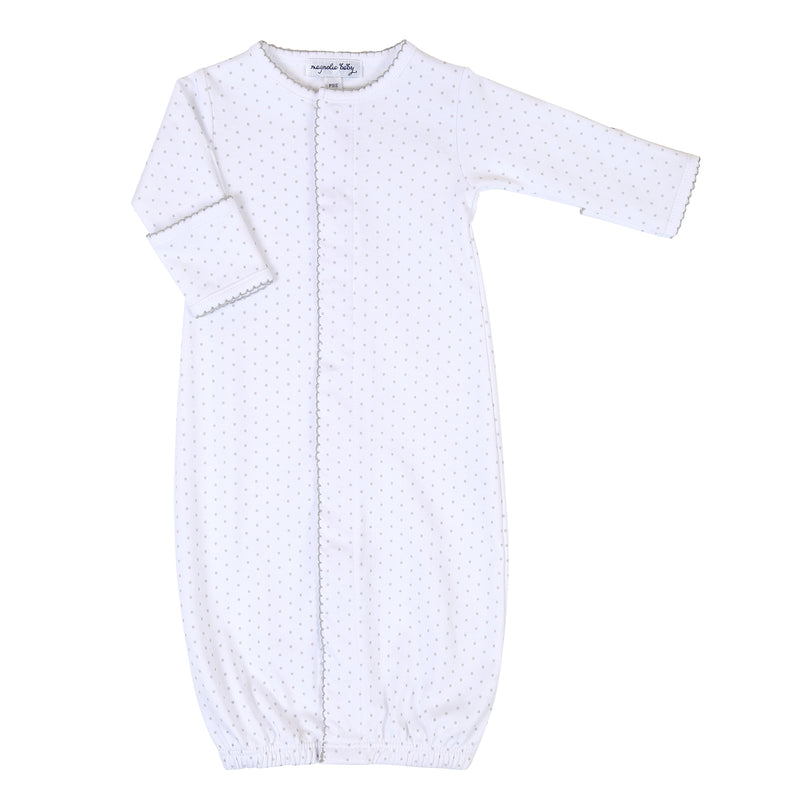 Magnolia Baby Essentials Grey Mini Dots Converter Gown - Personalization Available