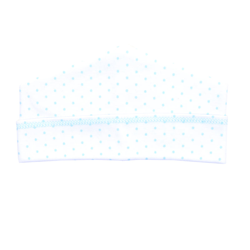 Magnolia Baby Essentials Blue Mini Dots Hat - Personalization Available