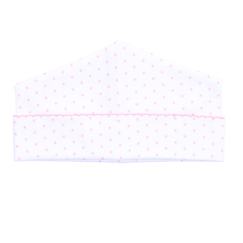 Magnolia Baby Essentials Pink Mini Dots Hat - Personalization Available