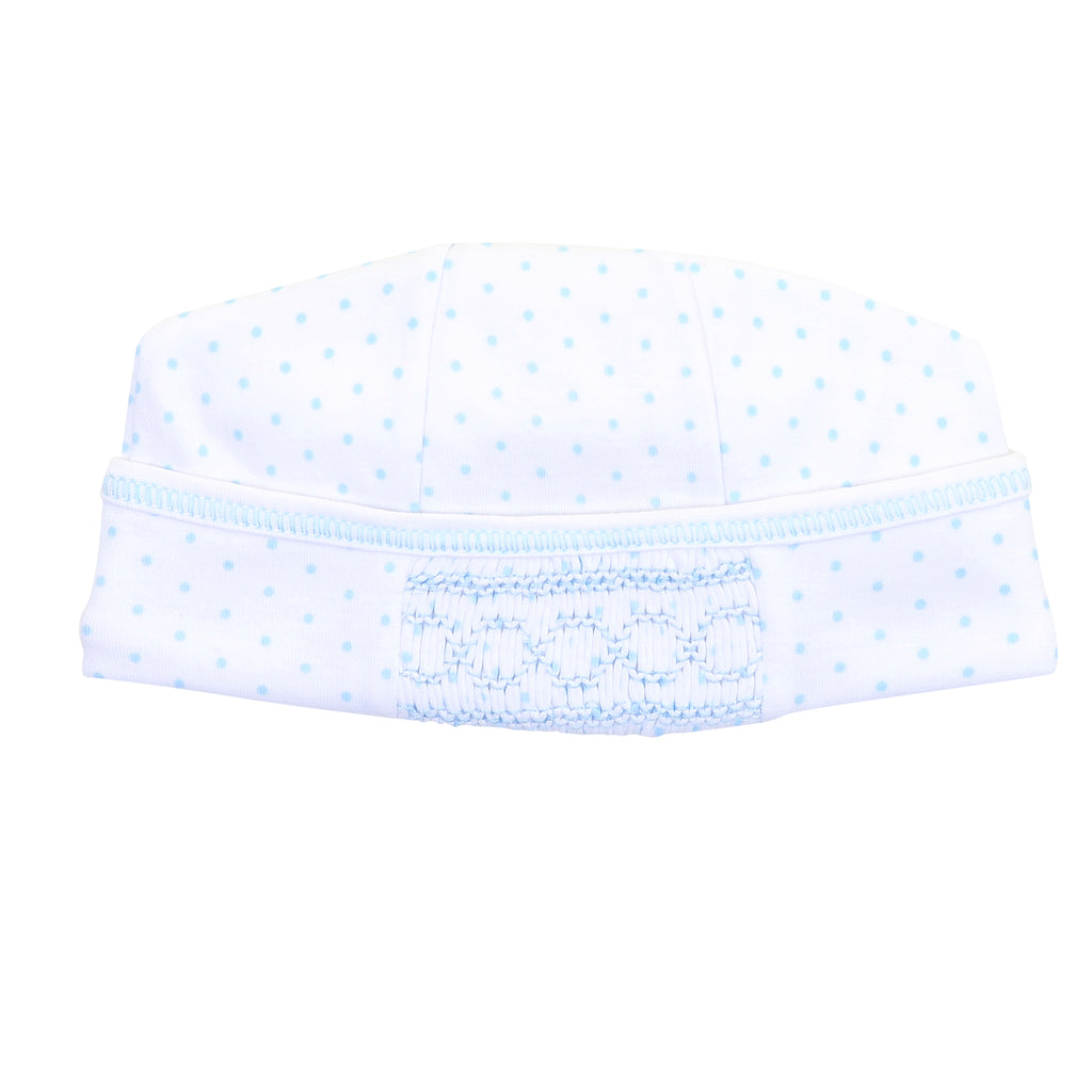 Magnolia Baby Essentials Blue Mini Dots Smocked Hat