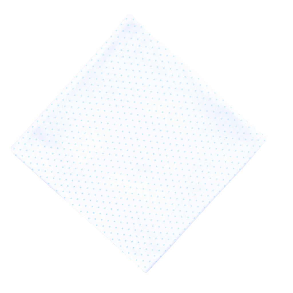 Magnolia Baby Essentials Blue Mini Dots Swaddle Blanket - Personalization Available