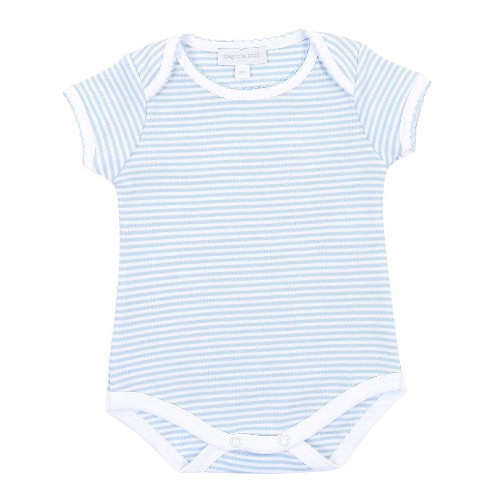 Magnolia Baby Essentials Blue Stripes Onesie Bodysuit - Personalization Available