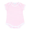 Magnolia Baby Essentials Pink Stripes Short Sleeve Bodysuit - Personalization Available