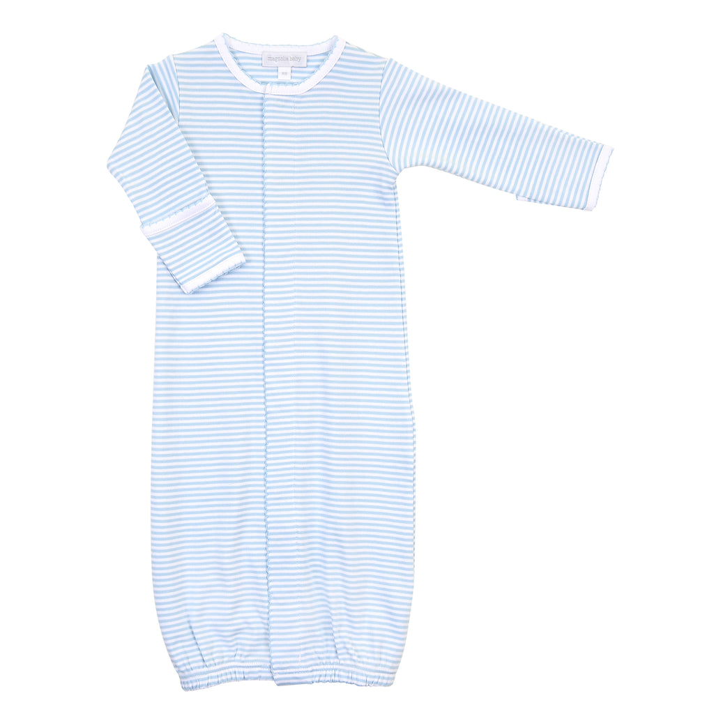 Magnolia Baby Essentials Blue Stripes Converter Gown - Personalization Available