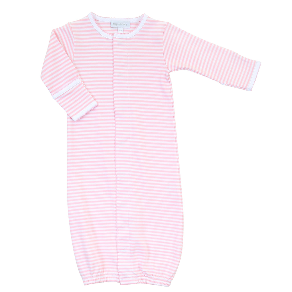 Magnolia Baby Essentials Pink Stripes Converter Gown - Personalization Available
