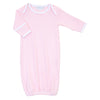 Magnolia Baby Essentials Pink Stripe Lap Shoulder Gown - Personalization Available