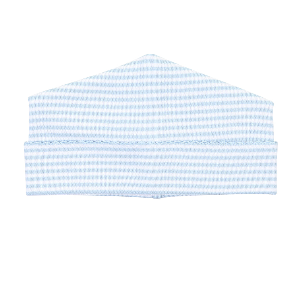Magnolia Baby Essentials Blue Stripes Hat  - Personalization Available
