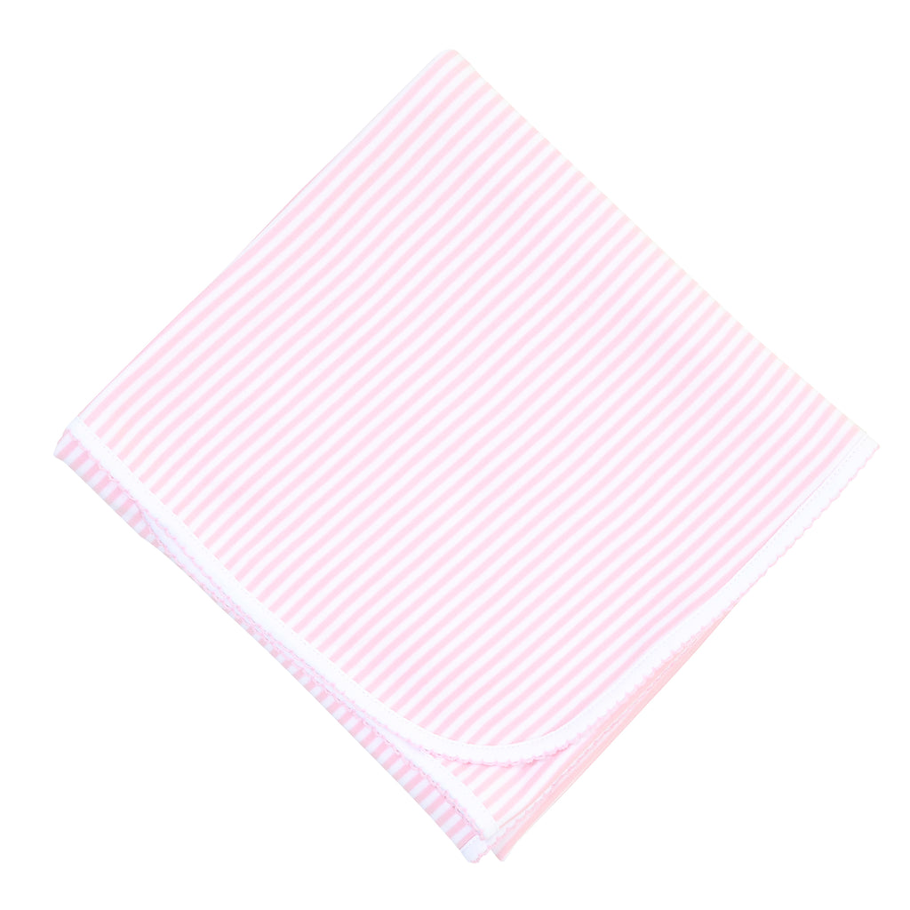 Magnolia Baby Essentials Pink Stripes Receiving Blanket - Personalization Available