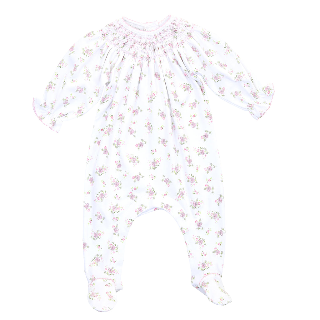 Magnolia Baby Pink Hope's Rose Bishop Printed Footie